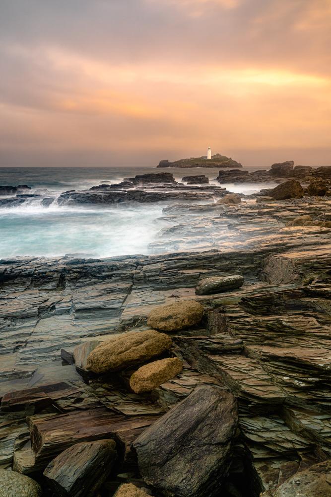Sunrise At Godrevy Lighthouse