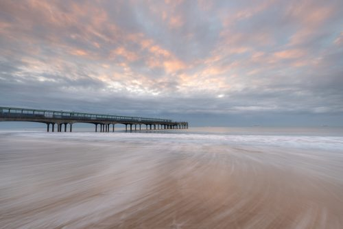 Incoming Tide At Boscombe Pier