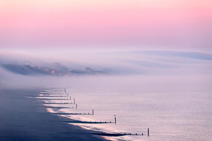 Morning Fog Over Hengistbury Head